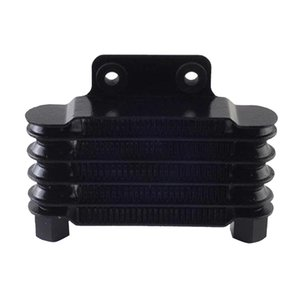 Aluminum Alloy Engine Oil Cooler Cooling Radiator Universal 5 Row Replacement Black