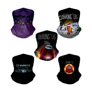Among Us Headscarf Cartoon Face Shield Bandana Face Mask Outdoor Sports Headband Visor Neck Gaiter Cycling Birthday Headscarf