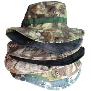 Tactical Hunter Hat Camouflage Boonie cap Sniper Hidden Sports Ripstop Combat Caps Wide Brim Bucket Hat for Ourdoor Camping Hiking Head Wear