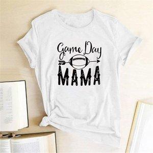 Yüksek Kaliteli Kadın T-Shirt Oyun Günü Mama Kadınlar Kısa Kollu O Boyun Yaz Harajuku Tees T Gömlek Camisetas Mujer Manga Corta
