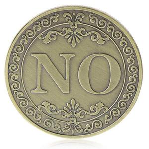 Oui ou pas de pièce commémorative florale Oui Non Lettre Coin Coin Classique Métal Magic Ticks Jouets Creative Magic accessoires Afficher l'outil PPD4505