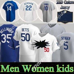 2020 2020 Hombres Mujeres Niños Dodgers Jersey Cody Bellinger Justin Turner Clayton Kershaw Walker Buehler Mookie Betts Enrique Baseball Jersey
