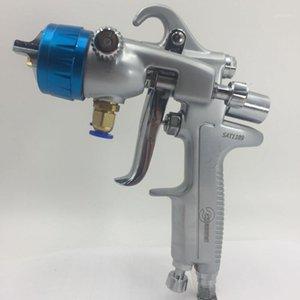 Sat1189 Nano Chrome Pinting ad alta pressione Aerografo Doppia Azione Spruzzatore pneumatico Doppio ugello Spray Gun Pneumatic Tool1