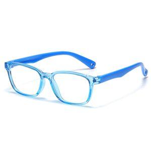502 سيليكون الأطفال الزرقاء واقية نظارات نظارات مرنة مسطحة يمكن أن تكون مجهزة نظارات قصر النظر النظارات الإطار 11
