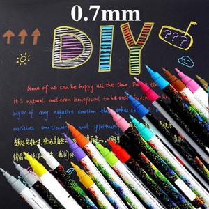 18 ألوان / مجموعة 0.7 ملليمتر الاكريليك الطلاء ماركر القلم للسيراميك الصخور الزجاج الخزف القدح النسيج الخشب قماش اللوحة بمناسبة مفصلة 201203