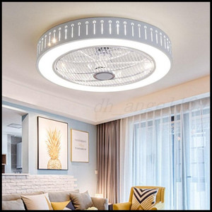 Smart Ceiling Fan Control with Cell Phone Wi-Fi Indoor home ceiling fan with Light Pendant Lamps