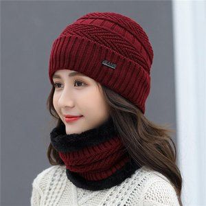 Autumn Winter Knitted Winter Skullies Hat Fashion Warm All-match Beanies Hats Casual Women Solid Adult Sweet Caps Cover Head