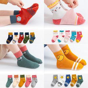 Children's Socks Autumn Winter Cotton Socks Baby Boys and Girls Floor Absorb Sweat