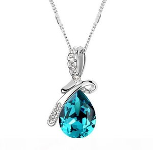 High-grade crystal pendant necklace with genuine SWAROVSKI color elements Mantingfang jewelry wholesale Pendant Necklaces