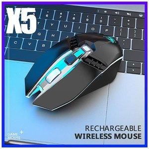X5 Bluetooth 5.0 + 3.0 + 2.4G Беспроводной трех режим безмасштабная аккумуляторная игровая мышь беспроводной домашний офис игра Mice Opto-Electronic Mous