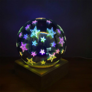 New hot selling LED night lights glass magic light usb creative home decoration night lamps LED starry sky projector light