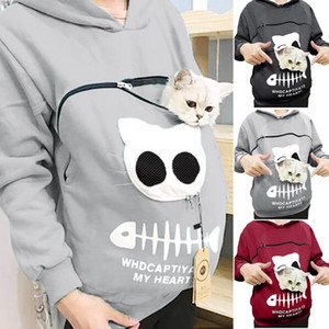 Cat Lovers Hoodie Kangaroo Dog Pet Dropshipping Pullovers Cuddle Pouch Sweatshirt Pocket Animal Ear Hooded