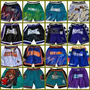 Denver.Nuggets.NovoIorqueKnicks apenas shorts de basquete Don CharlotteHornets.Kings.DetroitPistão Pocket 2021.