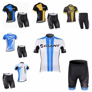 GIANT team Cycling Short Sleeves jersey shorts Sleeveless Vest sets Hot Sale breathable and quick drying mountain Bike Clothes H70332