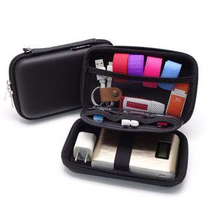 1PC Mini Earphone Carry Bag Cover Case Accessories Portable Coin Purse Compact Headphone USB Cable Case Storage Box