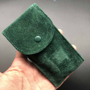 2020 Горячие Продажи Лучшее качество Гладкая Фланна Зеленый Чехол Часы Защитный чехол для часов Pocket Подарочный подарок Зеленое хранение Сумка Часы Аксессуары