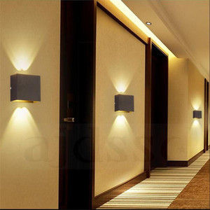 Wall light LED Aluminium Surface mounted 6W lampada rail project Square wall lamp bedside room bedroom lamps arts