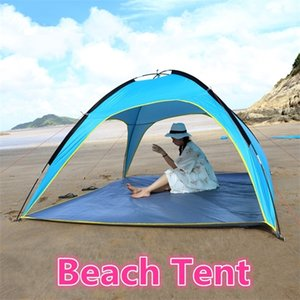 Beach Tent 210*210*130cm Sun Shade Fishing Shelter Portable Tents Quick Open Summer Anti UV Family Tent Simple Built NOT Auto Z1123