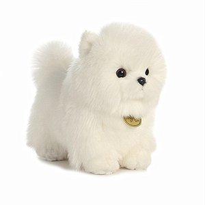 Aurora игрушки собака породы с длинным шелковистым белым пальто длинным плюшевым pomeranian bichon frize poodle собаки кукла дети дня рождения подарки lj201126