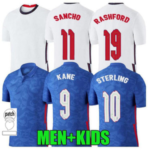 Männer + Kinder Kits Sancho Rashford Fussball Jersey E 2020 2021 Sterling Winks DELE KANE NGLAND 20 21 Football Shirts Kit Trikots Setzt Uniform