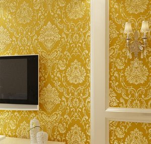 Modern Damask Wallpaper Wall Paper Embossed Textured 3d Wall Covering For Bedroom Livin jlllwB bdesybag