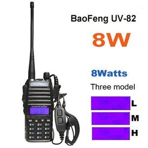 2020 Baofeng UV-82 8W 10 км Большой диапазон мощный продвигаемый Talkie портативный CB VHF / UHF двусторонний радиоамериканский амадор 8 Вт UV821