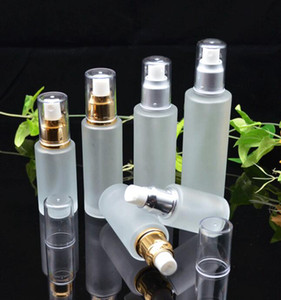 20ml 30ml 40ml 50ml Frosted Glass Bottle Lotion Mist Spray Pump Bottles Cosmetics Sample Storage Containers Jars Pot Party Favor GGA3832
