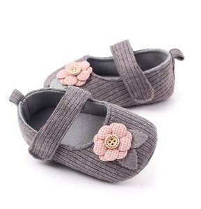 2021 Enfants Vêtements enfants bébé nouveau-né bébé garçon fille unisexe solaire souple chaussures chaussures de coton fleur prewalker bébé chaussures bébé