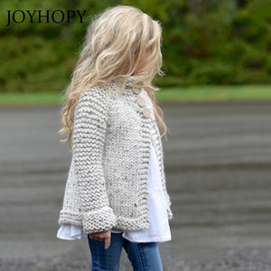 Baby Sweaters Toddler Kids Baby Girls Outfit Clothes Button Knitted Sweater Cardigan Coat Tops drop shipping F1203