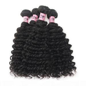 Nami Hair Brazilian Virgin Hair Wefts Deep Wave 4 Bundles 100% Human Hair Extensions Natural Color