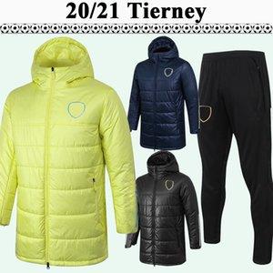 20 21 Tierney Saka Willian Cotton Suit Mens Soccer Jerseys Maitland-Niles Thomas Zapphire Giallo Black Hat Long Zipper Kit Camicia da calcio