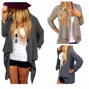 Women Knitted Cardigan Feminino Female Cardigans Solid Irregular sueter Long sleeve wool Cardigan Sweater coat outwear LJJA2824