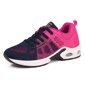 Air Cushioning Running Shoes Women Sneakers Breathable Mesh Sport Shoes Ladies Trainers 200922 with logo