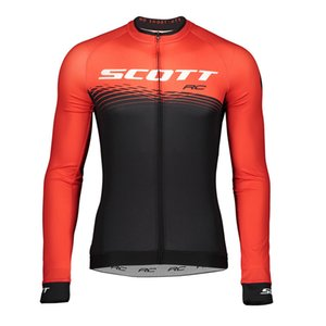 2019 NEW SCOTT Team Men Cycling jersey breathable quick dry Tour de france long sleeve Racing clothing road bike shirt bicycle Tops Y080101