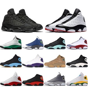 Novo Hot 13 13s Mens Basquete Sapatos Jumpman Flint Ano Chinês Playground Bred Chicago Playoffs Ilha Green Cestas Cestas Homens Esportes Sneakers