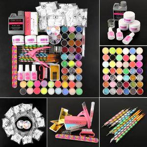 COSCELIA Acrylic Nail Kit UV Gel Set Acrylic Powder 120ml Liquid False Nail Tips Art Tools All For Manicure Set