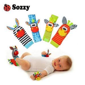 Sozzy Hot Baby Toy Socks Baby Toys Giocattoli Regalo Peluche Giardino Giardino Polso Polso Raggi 3 Stili Giocattoli educativi Carino colore brillante