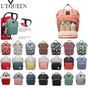 Lequeen Fashion Mummy Maternity Nappy Bag Brand Large Capacity Baby Bag Travel Backpack Designer Nursing Bag for Baby Care 201120