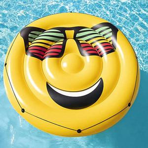 Lächelndes PVC Wasser Erwachsene Gesicht Sonnenbrille Luftkissen Aufblasbare Floating Row Kinder Schwimmkreis Schwimmenkreis Floating Island