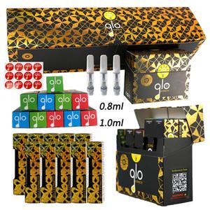 GLO extratos empacotamento do cartucho de Vape 0.8ml 1.0ml Bobina de cerâmica com caixa grande Vape vazio Atomizers Atomizadores de Óleo grosso Cartuchos Glo