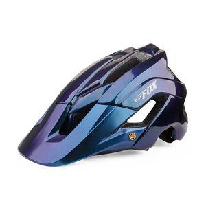 Casque de vélo Helmet montagne Cas de cyclisme de montagne CE moulée intégralement CE MTB avec Sun Visor Hommes Femmes Casque de vélo ultra-léger