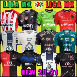 20 21 FC Juárez Juarez Pachuca Kulübü Necaxa Leon Atlas Monterrey Futbol Forması 2020 2021 Ev Uzakta Üçüncü Liga MX Futbol Gömlek Üniforma