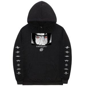 나루토 후드 스웨터 남성 여성 만화 Sasuke Sudadera Naruto Off Black White Hoodie Japanese Streetwear Naruto Tops Coat