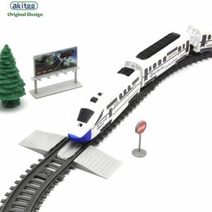 AKITOO 1020 Моделирование высокоскоростных железнодорожных железнодорожных железнодорожников Electric Train Garmony Pullet Поезд Детская игрушечная форма Q1217
