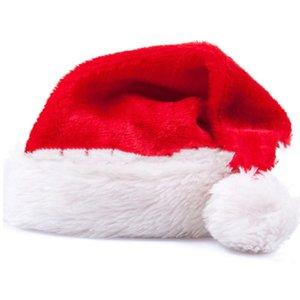 2020 New Christmas Hat Golden Velvet Adult Christmas Ornament Family With Red Santa Hat Christmas Ball