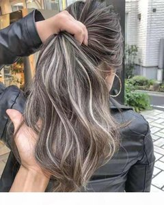 HotTest Ash Grey Hair Human Heytail Ponytail Parruttino Sale e Pepper Natural Highlights Wet Wavy Wraps Around Grey Hair Casytail per youg Girl