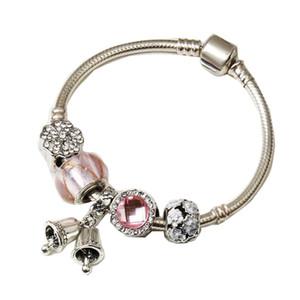 factory direct luxury hot sale Amazon punk personality gemstone bracelet Pandor popular DIY jewelry wholesale 2020 Christmas bell bracelets