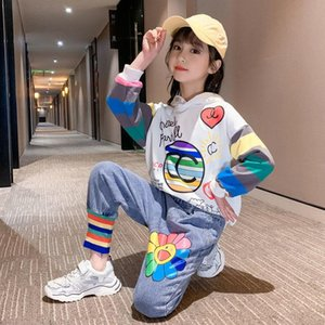 Fancy Girls Baby Suits 2020 New Brand Children Clothes Set Sweatshirt + Jeans Pants 2 Pcs Teenage Casual Spring Autumn Clothing