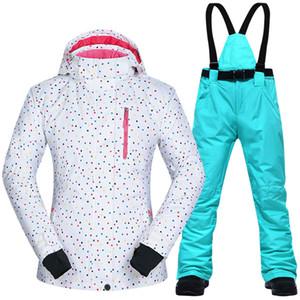 Snowboarding الدعاوى النساء الملابس سترات التزلج و السراويل مجموعات الثلوج BDD في الهواء الطلق windproof ماء الملابس الشتاء بدلة تزلج ماركات Z1128