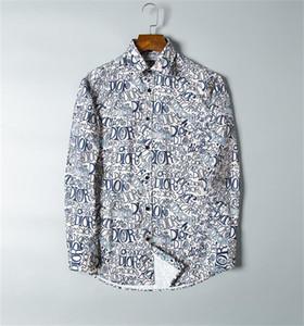 2020 EE.UU. Marca de negocios Marca delgada camisa, marca de moda Marca de manga larga Casual Camisa Casual Stripe CAMISA CAMISA TAMAÑO M-4XL # 99